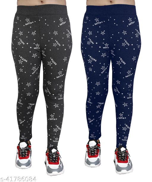Women's Skinny Fit Jeggings Pack Of 2(Size:-26 to 36)