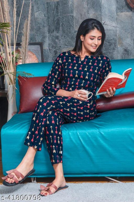 Women's rayon nightsuits