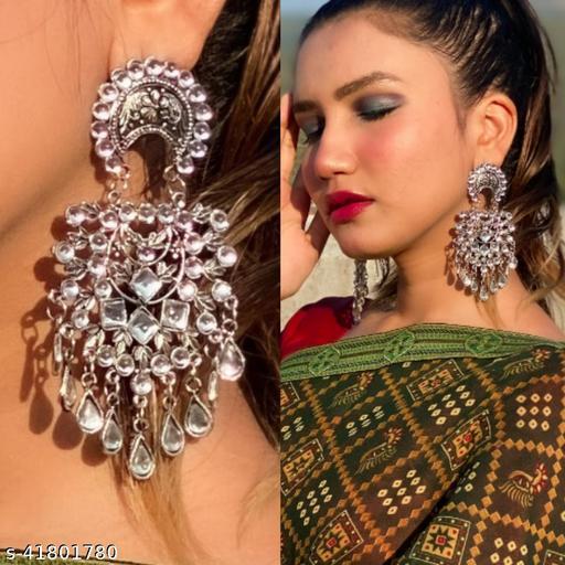 Justrealdeal Oxidized Jhumki Earrings for Women Design 07