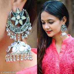 Justrealdeal Oxidized Jhumki Earrings for Women Design 08