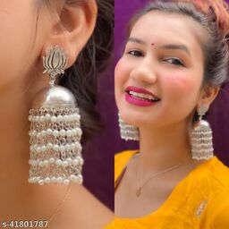 Justrealdeal Oxidized Jhumki Earrings for Women Design 10