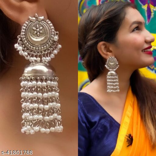 Justrealdeal Oxidized Jhumki Earrings for Women Design 13