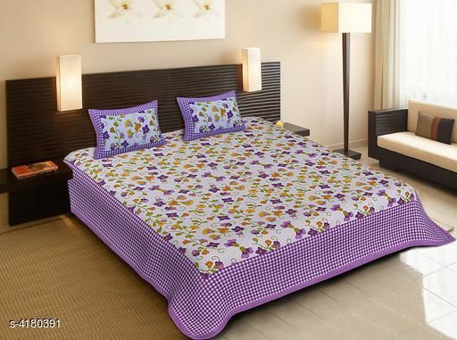 Stylish Cotton Printed Double Bedsheets
