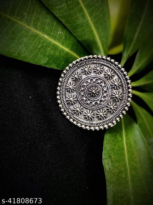 Samridhi DC Oxidized Silver Rings for Party Wear