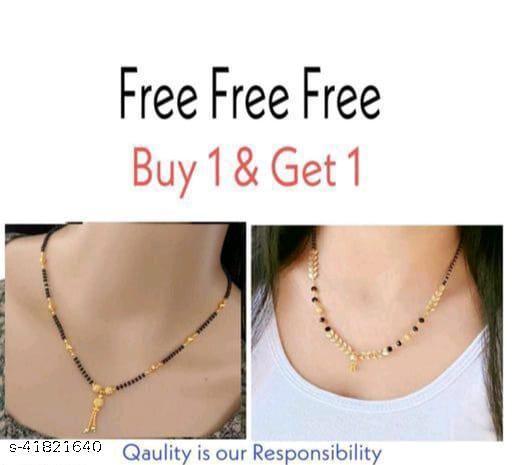 Trendy Buy 1 Get 1 Free Mangalsutra Dokiya Combo For Women's