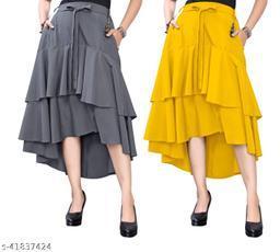 303 GREY YELLOW Skirt