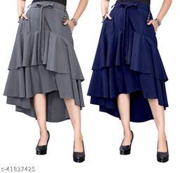 302 GREY BLUE Skirt