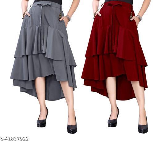 306 GREY MAROON Skirt