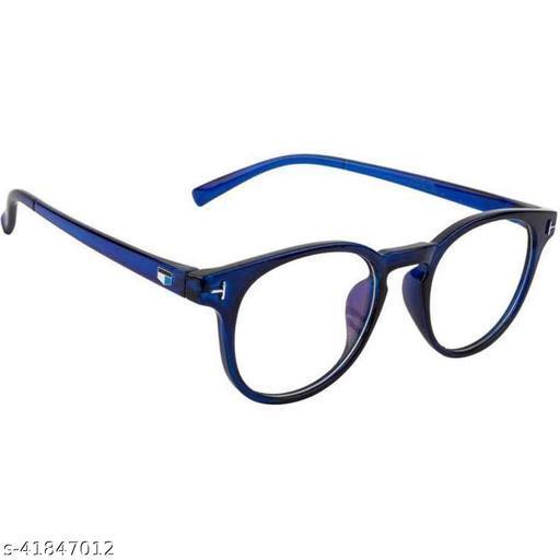 Raised Retro Oval Unisex Glasses Spectacle Frames for Men Women Boys Girls (Clear)