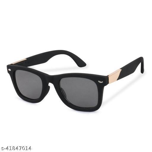 Black Matt Finish Unisex Sunglasses Combo with UV Protection