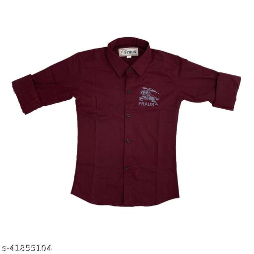 Fancy Stylish Solid Plain Shirt For Boys