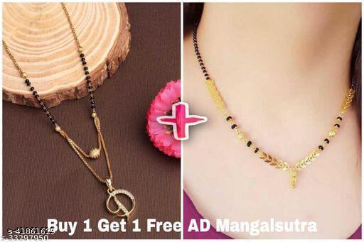 D Letter Alphabet Letter Locket Mangalsutra With Free Gift Kidiya Mangalsutra For Women's