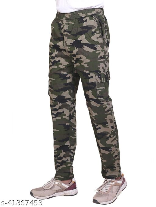 Click One Casual Camouflage Trackpant For Men's