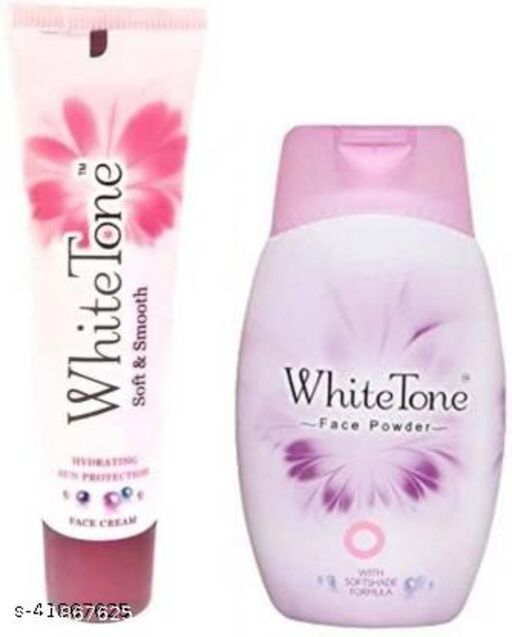 White Tone Face powder 30and face cream combo 25 (30g+25g) PACK OF 2 VALID