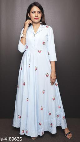 Printed Cream Maxi Crepe Dress