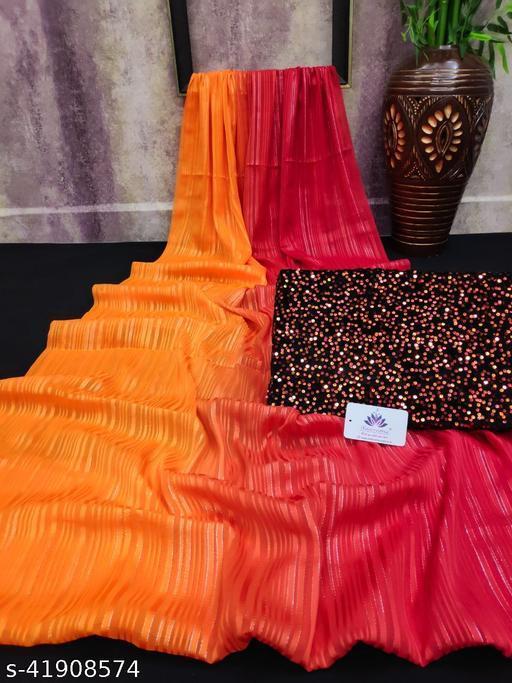Weightless peding saree