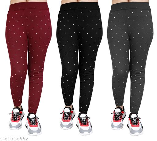 Women's Slim Fit Jeggings Pack Of 3(Size:-26 to 36)