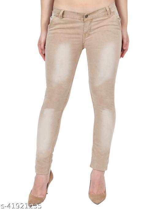 Pretty Women Fone Skinny Fit Mid Rise Faded Denim Jeans