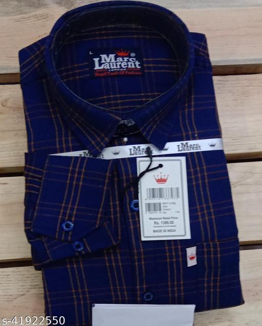 Marc Laurent Full Sleeve Check COTTON shirt for Men's