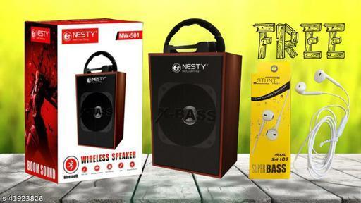 wooden bluetooth speaker nesty speaker wooden speaker with lightning jbl speaker sony speaker bose speaker boat speaker mi speaker FREE Earphone