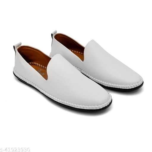 Factory Outlet White Loafers for Men