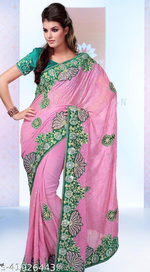 Designer Pink One Minute Lehenga Saree