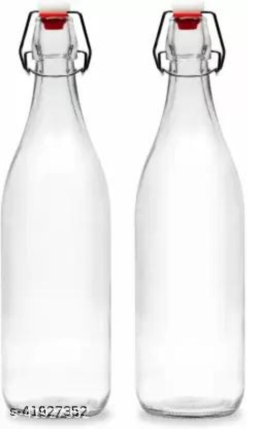 Dreamy Designs Glass Water Bottle 1000ml Air Tight Cap Fridze Friendly Crystal Glass Best quality Po2