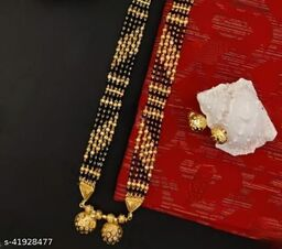 legant mangalsutra with earrings