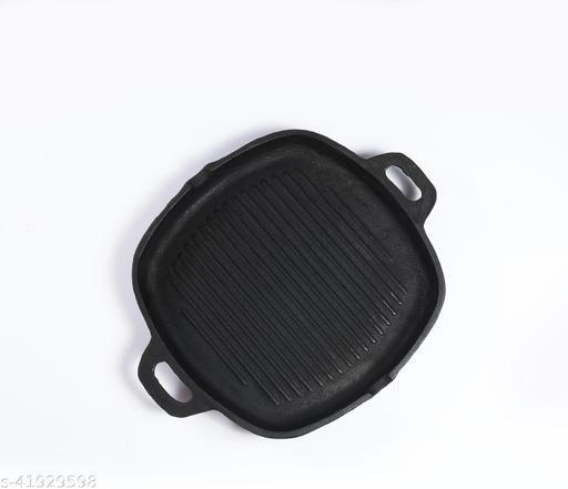 FeRUS Grill Pan 30.45 cm diameter 2 L capacity (Cast Iron, Non-stick, Induction Bottom)