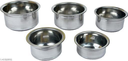 Navbharat 23 Tope Set 1 L, 1.5 L, 1.2 L, 0.5 L capacity 30 cm diameter (Stainless Steel, Non-stick, Induction Bottom)