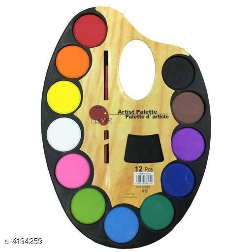 Artistic Palettes With 12 Water Color & Artist Paint Brush in Each Of The Palette For Kids