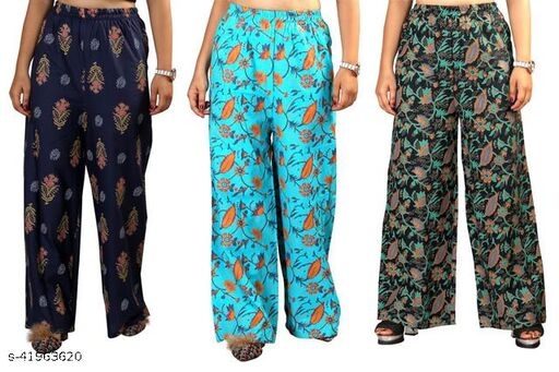 Special Offer Pack Of 3 Women's Palazzos