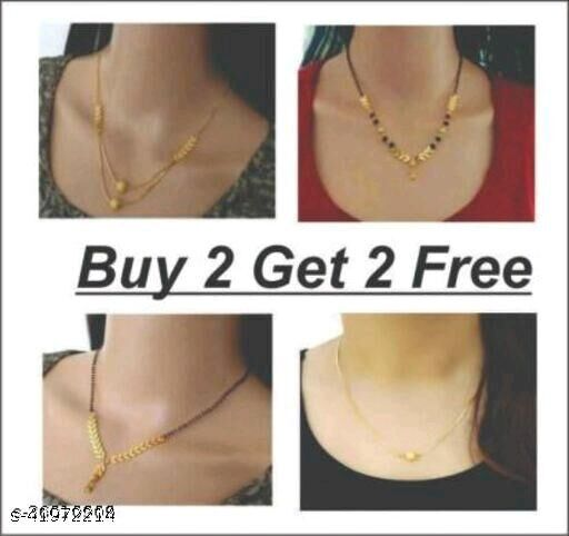 Gold Plated Chunky Jewellery Necklace Combo Set (Buy 2 Get 2)