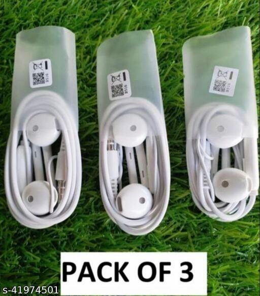 Wired Headphones Pack of 3