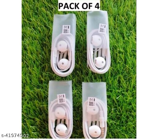 Wired Headphones Pack of 4
