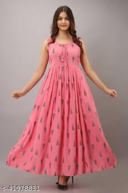 Pink Sleeve Less Gown
