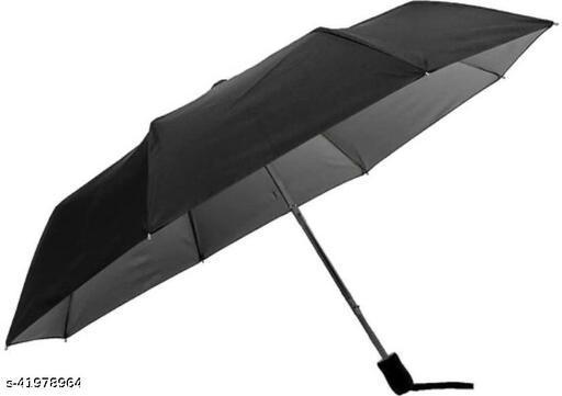 Casual 3 Fold Umbrella for Men and Women (Black)