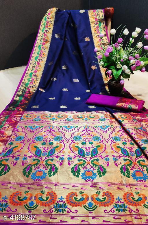 Jia Marvellous Pathani Silk Women's Sarees