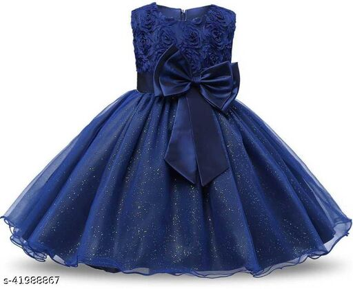 Bow beauty frock for girls