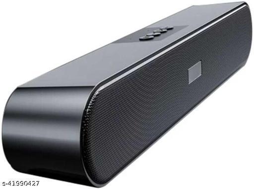 Super Mega Bass Wireless Portable Splash-Proof Bluetooth Speaker with AUX/FM/SD Card/USB - Black