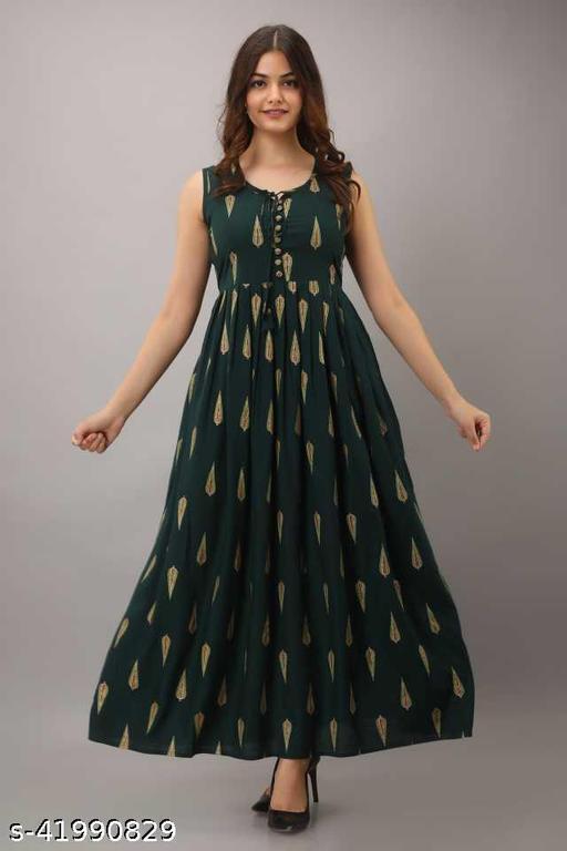 Stylish Flared kurti cum gown