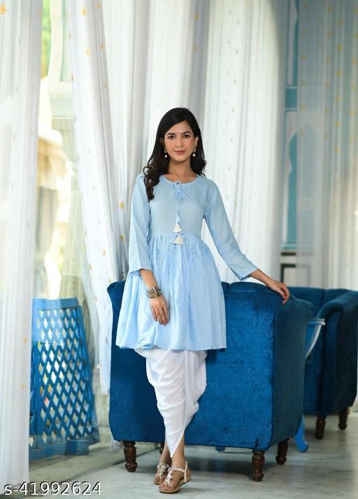 Attractive Trendy Kurta With Dhoti