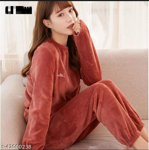 Women Woolen Night Suit for Winters