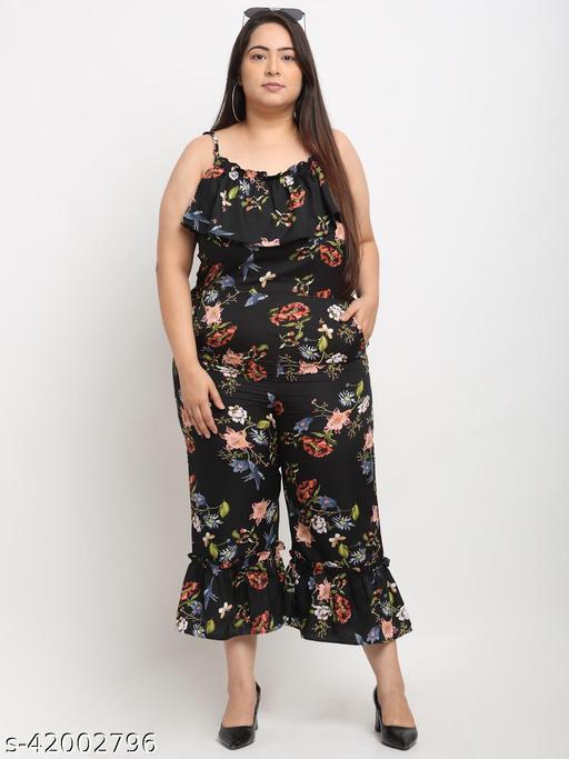 Flambeur Women's Plus Size Casual Multicolor Jumpsuit