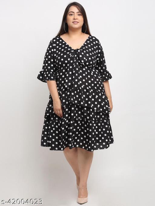 Flambeur Women's Plus Size Casual Multicolor Dress