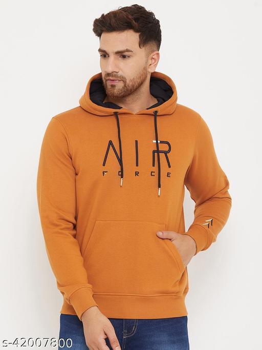 98 Degree North's Rust Hooded Embroidered Sweatshirt