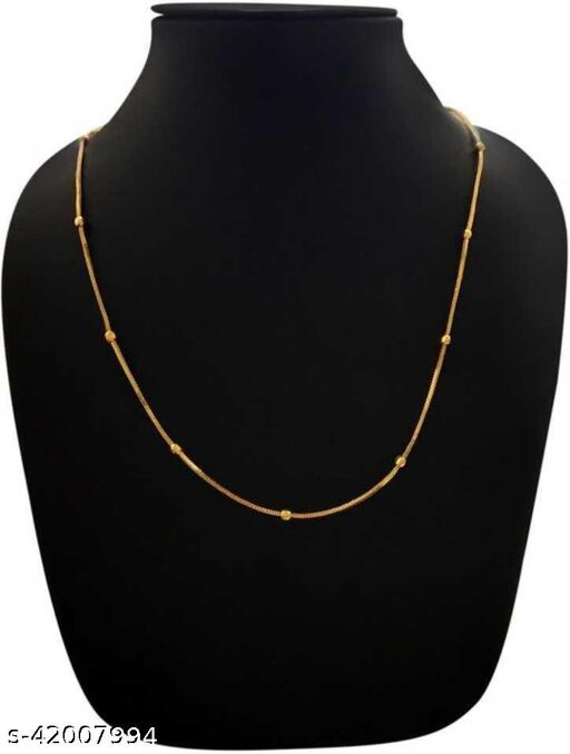 gold plated fisher design chain for women and girls