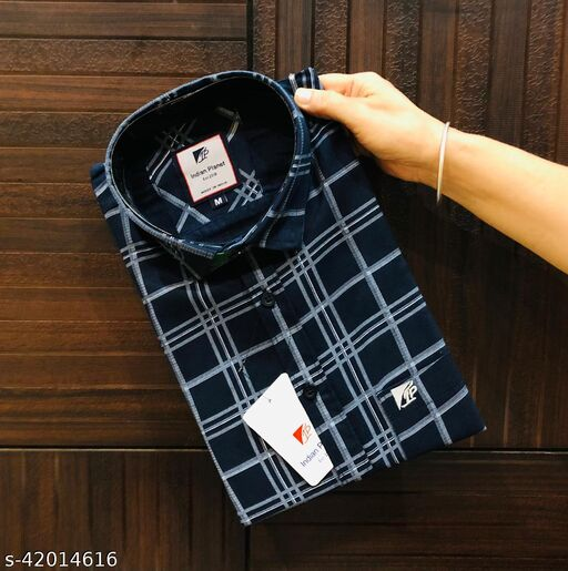 CASUAL CHECK COTTON SHIRTS FOR MEN