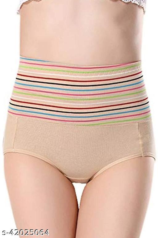 Women Hipster Beige Cotton Blend Panty
