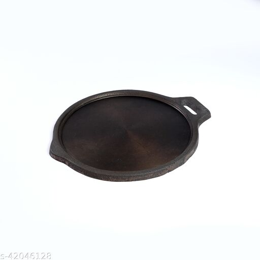 Navbharat Cast iron pre-Seasoned Griding / Polished 10 Inch Tava Tawa 25 cm diameter (Cast Iron, Non-stick)